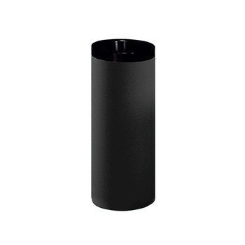 Peter Pepper 281-QS Steel Trash Can with Black Top Ring