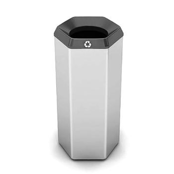 Peter Pepper HexBin Steel Trash Can 1001-T