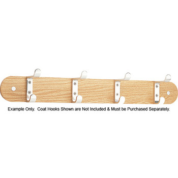 Example of Peter Pepper Wooden Wall Mounted Coat Hook Rack TYPE-2 with Coat Hooks - Coat Hooks Not Included