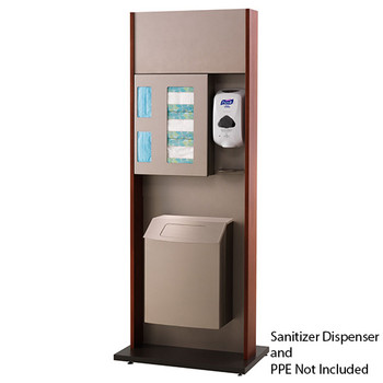 Peter Pepper ICF-2TX Sanitation Station - Freestanding - Trash Can with Lid