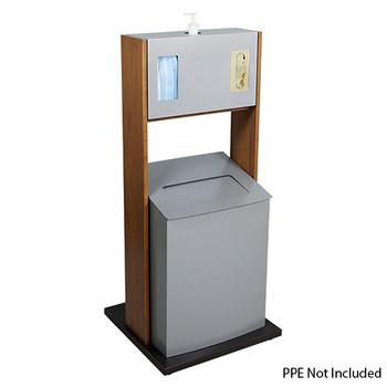 Peter Pepper ICF-4 Sanitation Station - Freestanding - Trash Can