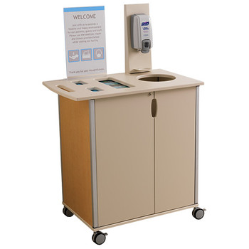Peter Pepper Mobile Infection Control and Prevention Cart ICM-1 with Optional Vertical Sign