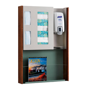 Peter Pepper HealthFIRST Infection Control - Hygiene Station ICP-2M - Wall Mounted - Magazine Rack