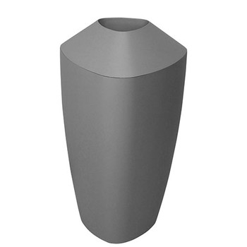 Peter Pepper Tria Bin in Matte Metallic Finish - Fiberglass Waste Basket - 20 Gallon Capacity