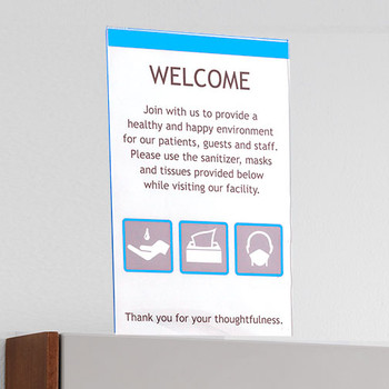 Peter Pepper HealthFIRST Infection Control IC-PV - Vertical Sign Frame   Poster Not Included