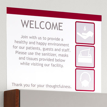 Peter Pepper HealthFIRST Infection Control IC-PH - Horizontal Sign Frame   Poster Not Included