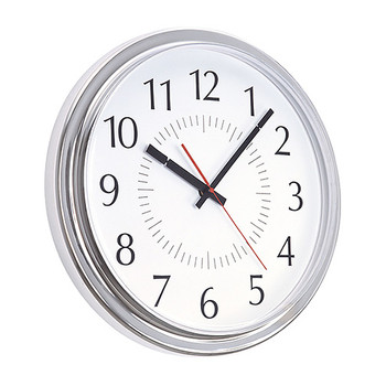 Peter Pepper 845 Custom Wall Clock with Chrome Finish