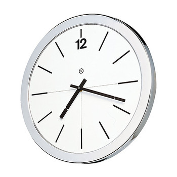 Peter Pepper 843 Custom Wall Clock with Optional Chrome Finish