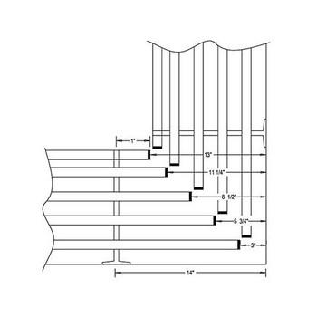 Camden-Boone Mitered Inside Corner for Coat Racks - Diagram