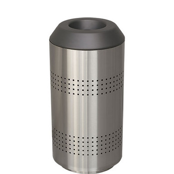 Peter Pepper Timo Round Recycling Bin in Stainless Steel with Optional Perforated Sides
