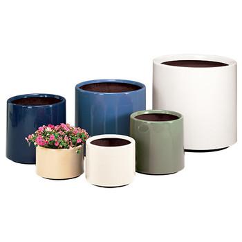 Peter Pepper Cylinder Fiberglass Planters Group