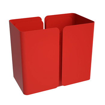 Peter Pepper SW Stream Deskside Recycling Wastebasket - Single Stream without Top - Poppy on Poppy Accent