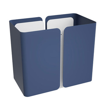 Peter Pepper SW Stream Deskside Recycling Wastebasket - Single Stream Finished in Pacific Blue with Bright White Accent