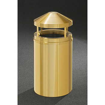 Glaro Atlantis Canopy Top Trash Can - 20 x 42 - 33 Gallon - H2001BE