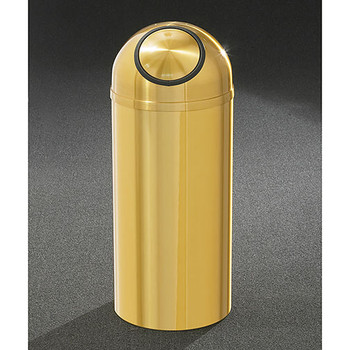 Glaro Atlantis Self-Closing Dome Top Trash Can - 12 x 30 - 8 Gallon - S1230BE