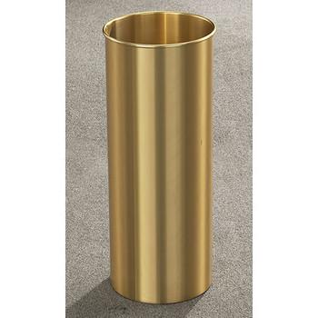 Glaro Atlantis Wastebasket - 9 x 23 - 7 Gallon - 922BE - finished in Satin Brass