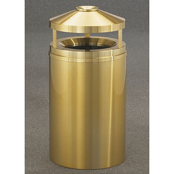 Glaro Atlantis Canopy Funnel Top Ash and Trash Can - 20 x 42 - 33 Gallon - H2002BE