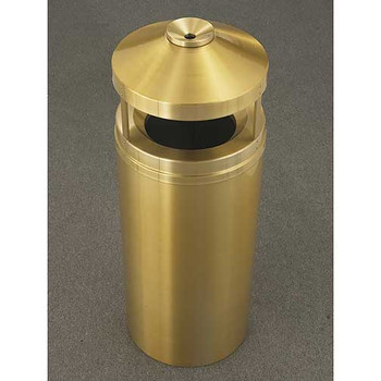 Glaro Atlantis Canopy Funnel Top Ash and Trash Can - 15 x 39 - 16 Gallon - H1502BE