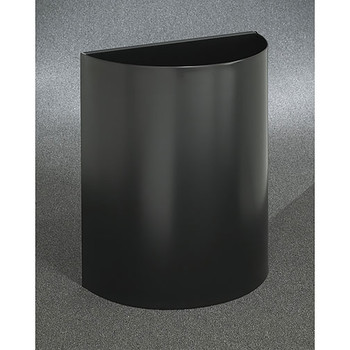 Glaro Profile Half Round Open Top Receptacle, 2496, finished in Satin Black