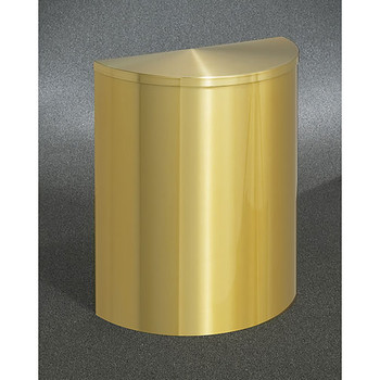 Glaro Profile Half Round Covered Receptacle, 2495-BE, finished in Satin Brass
