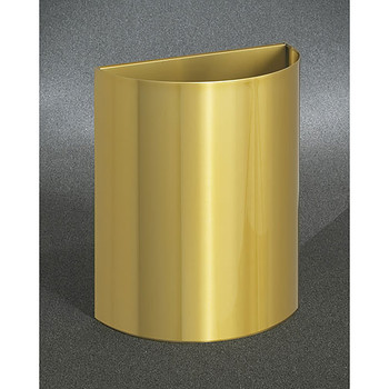 Glaro Profile Half Round Open Top Receptacle, 2496-BE, finished in Satin Brass