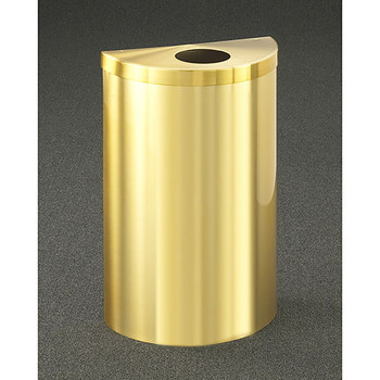 Glaro Profile Half Round Trash Can, 1892V-BE, finished in Satin Brass