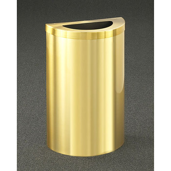 Glaro Profile Half Round Trash Receptacle, 1891V-BE, finished in Satin Brass