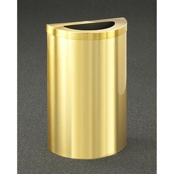 Glaro Profile Half Round Trash Receptacle, 1891V-BE, finished in Satin Brass