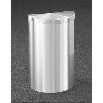 Glaro Profile Half Round Covered Receptacle, 1895V-SA, finished in Satin Aluminum