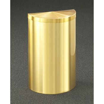 Glaro Profile Half Round Covered Receptacle, 1895V-BE, finished in Satin Brass