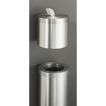 Glaro New Yorker Value WasteMaster Funnel Top Trash Can - 10 x 29 - 8 Gallon - F1024SA Paired with W1015SA Wall Mounted Antibacterial Wipe Dispenser - Sold Separately