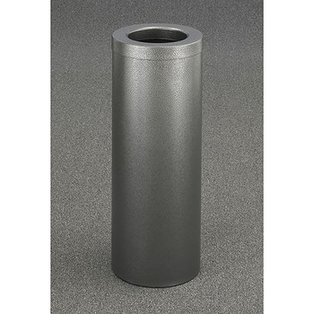 Glaro Mount Everest Value WasteMaster Funnel Top Trash Can - 10 x 29 - 8 Gallon - F1024SV - Finished in Textured Silver Vein