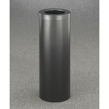Glaro Mount Everest Value WasteMaster Funnel Top Trash Can - 10 x 29 - 8 Gallon - F1024 - Finished in Satin Black