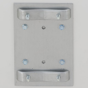 Glaro Antibacterial Wipe Dispenser Wall Mounting Bracket - Finished in Satin Aluminum - Included
