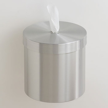 Glaro Wall Mounted Antibacterial Wipe Dispenser - W1015SA - Satin Aluminum
