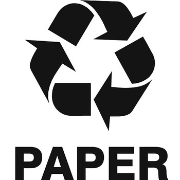 Paper Recycling Label