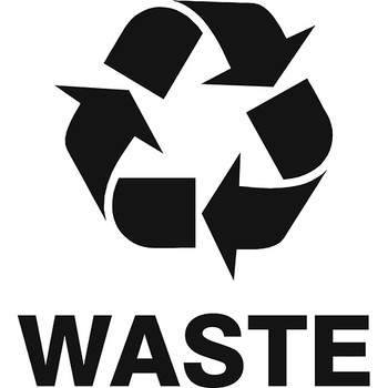 Waste Recycling Logo Label