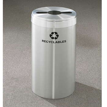 Glaro RecyclePro Value Single Stream Recycling Bin - 15 x 30 - 23 Gallon - M1542SA