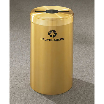Glaro RecyclePro Value Single Stream Recycling Bin - 15 x 30 - 23 Gallon - M1542BE