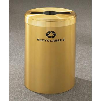 Glaro RecyclePro Value Single Stream Recycling Bin - 20 x 30 - 41 Gallon - M2042BE