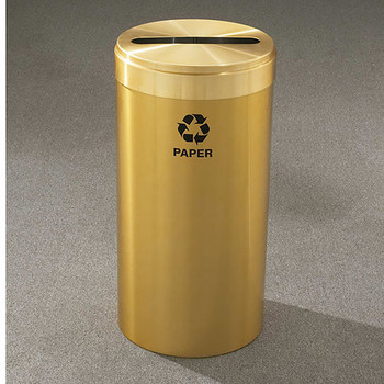 Glaro RecyclePro Value Paper Recycling Bin - 15 x 30 - 23 Gallon - P1542BE