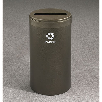 Glaro RecyclePro Value Paper Recycling Bin - 15 x 30 - 23 Gallon - P1542 - finished in Bronze Vein