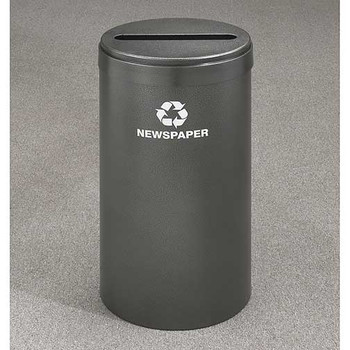 Glaro RecyclePro Value Paper Recycling Bin - 15 x 30 - 23 Gallon - P1542 - finished in Silver Vein
