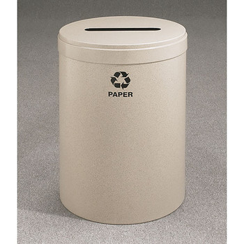 Glaro RecyclePro Value Paper Recycling Bin - 20 x 30 - 41 Gallon - P2042 - finished in Desert Stone