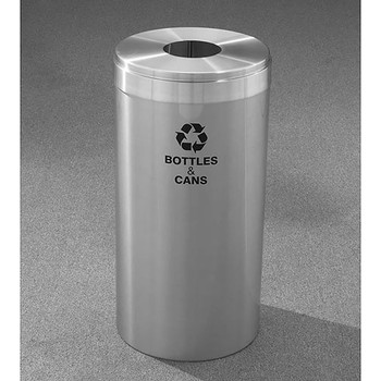 Glaro RecyclePro Value Bottle Recycling Bin - 12 x 30 - 15 Gallon - B1242SA