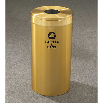 Glaro RecyclePro Value Bottle Recycling Bin - 12 x 30 - 15 Gallon - B1242BE