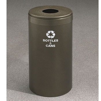 Glaro RecyclePro Value Bottle Recycling Bin - 15 x 30 - 23 Gallon - B1542 - finished in Bronze Vein