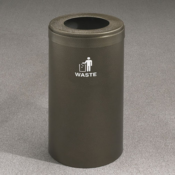 Glaro RecyclePro Value Waste Bin - 15 x 30 - 23 Gallon - W1542 - finished in Bronze Vein