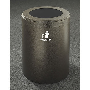 Glaro RecyclePro Value Waste Bin - 20 x 30 - 41 Gallon - W2042 - finished in Bronze Vein