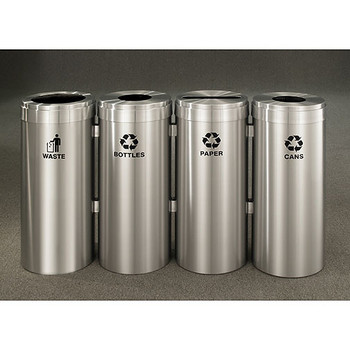 Glaro 4X RecyclePro Value Connected Recycling Station - 12 x 30 - 60 Gallon - 12424SA